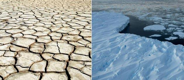 sécheresse en Camargue, fonte des glaces en Antartique