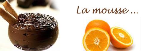 Dessert bio. Mousse au chocolat à l'orange