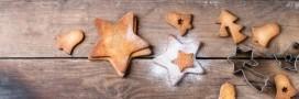 Goûter bio. Étoiles de Noël moelleuses
