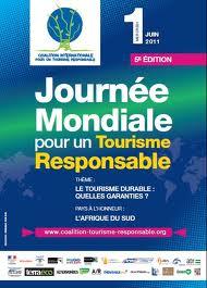 Affiche journée mondiale tourisme responsable