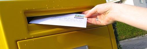 Je choisis le timbre poste Lettre verte ou Lettre en ligne