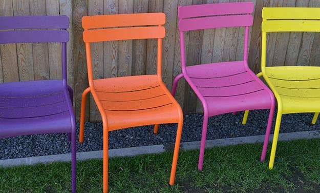 mobilier salon de jardin meubles plastique 03 - Chaise Jardin Colore