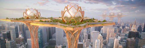 City in the Sky, des jardins suspendus au-dessus des villes