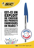 """Bic mise sur le """"made in France"""""""