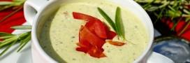 Recette bio: crème de courgette à la menthe