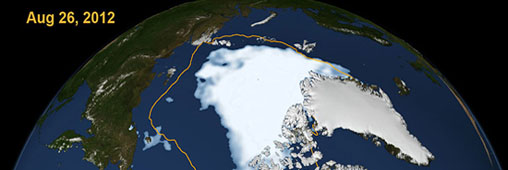 L&#039;Arctique et le Grand Nord vus du ciel en 2012