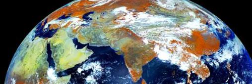 La terre en mouvement vue depuis un satellite russe