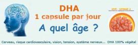 A partir de quel âge prendre du DHA?