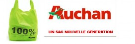 Un sac de caisse nouvelle génération chez Auchan