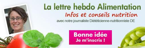 Les NEWSLETTERS Nutrition - Alimentation
