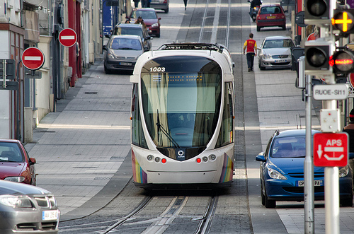 Le tramway d'Angers. CC : ati4850