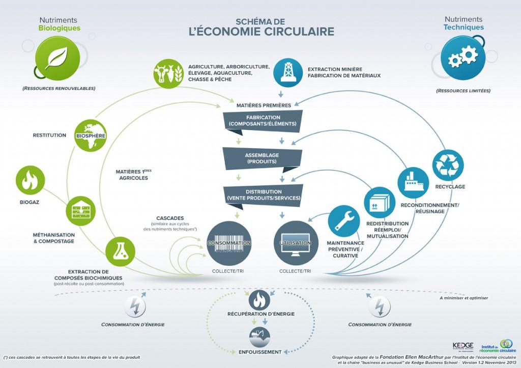L'économie circulaire - Infographie de l'Institut de l'économie circulaire
