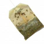 Sachet de thé usagé