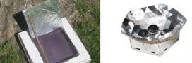 Insolite: un four solaire en carton de pizza et aluminium!