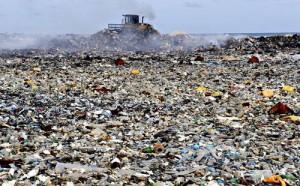 Ile de Thilafushi poubelle