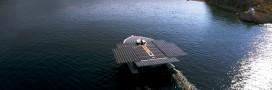 Record du monde de la traversée de l'Atlantique par un bateau solaire