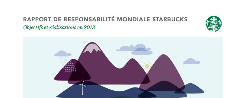 Rapport responsabilité environnementale de Starbucks