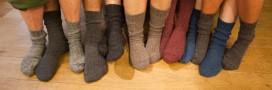 Recyclage: les chaussettes orphelines s'offrent une seconde jeunesse