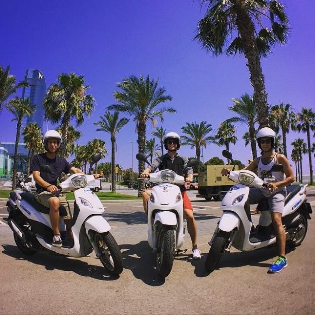 Location de motos électriques à Barcelone