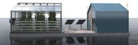 Eco-Barge, une serre flottante sur le Danube
