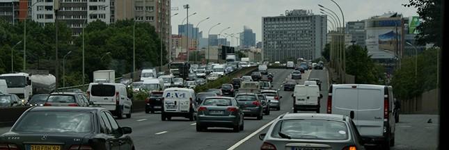 embouteillages, pollution, périphérique parisien