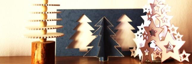 arbre de Noël, alternatives aux sapins, fait-maison, DIY, idées déco