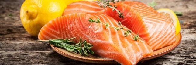 Les saumons d'élevage nourris avec de la farine d'insectes