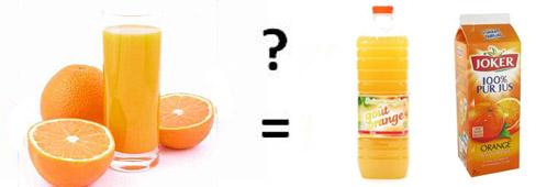 Un jus d'orange c'est combien ?