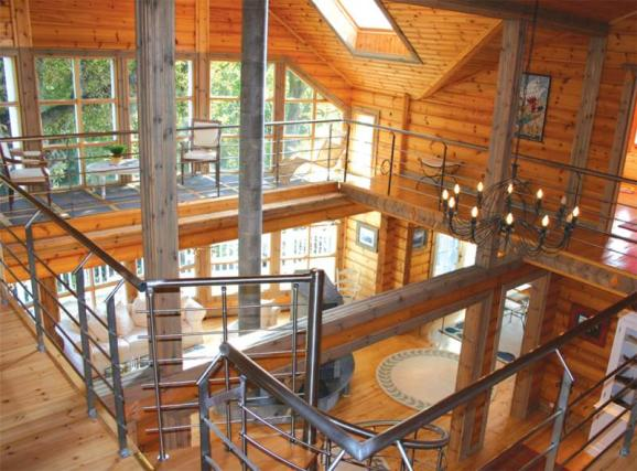 intérieur ossature bois