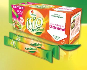 Voici un bel exemple de communication anti cholesterol sur un emballage de margarine