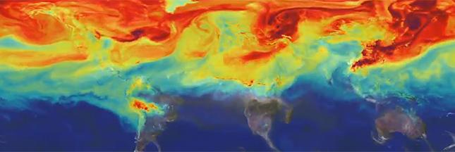 Regardez un an de CO2 sur Terre en vidéo